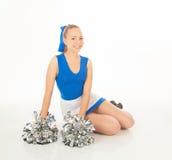Pretty young cheerleader stock photo