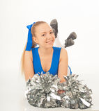 Pretty young cheerleader Stock Image