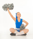 Pretty young cheerleader Royalty Free Stock Images