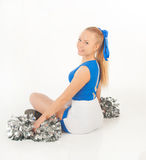 Pretty young cheerleader Stock Images