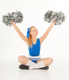 Pretty young cheerleader Royalty Free Stock Image