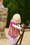 Child Playing. Pretty Young Child Playing in Park Play Ground Stock Photo