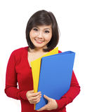 Pretty young college student Stock Photo