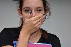 Ashamed Girl Student Stock Photography