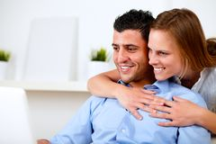 Pretty young couple browsing Internet Royalty Free Stock Photo
