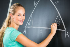 Pretty young elementary school/college teacher Stock Photo