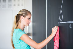 Pretty young elementary school/college teacher Stock Image