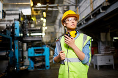 Pretty young engineer Royalty Free Stock Photos