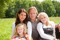 Pretty young family portrait Stock Image
