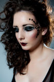Pretty young female with beautiful makeup. Image of pertty young female with beautiful makeup Stock Photo