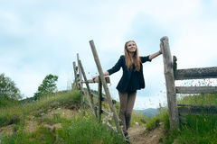 Pretty young female in the countryside Royalty Free Stock Photography