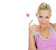 Pretty young female fitness Stock Photo