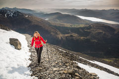 Pretty, young female hiker Royalty Free Stock Photography
