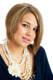 Pretty young female isolated Royalty Free Stock Image