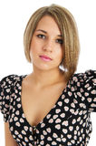 Pretty young female isolated posing Stock Photography