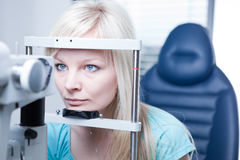 Pretty young female patient Royalty Free Stock Images