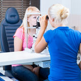 Pretty, young female patient Royalty Free Stock Image