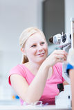 Pretty, young female patient Stock Images