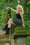 Pretty young female posing outdoors Royalty Free Stock Image