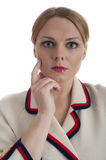 Pretty young female in retro 60s style clothes Royalty Free Stock Images