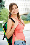 Pretty young female student Royalty Free Stock Photography