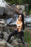 Pretty young fitness girl working out Royalty Free Stock Photo