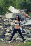 Pretty young fitness girl working out Royalty Free Stock Photography