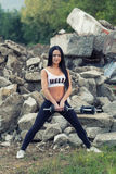 Pretty young fitness girl working out Stock Photography