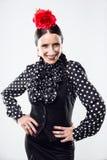 Pretty young flamenco dancer in beautiful dress. Royalty Free Stock Photo