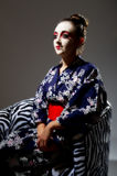 Pretty young Geisha girl. Image showing pretty young geisha girl Royalty Free Stock Photos