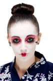 Pretty young Geisha girl. Image showing pretty young geisha girl Stock Photo