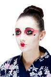 Pretty young Geisha girl. Image showing pretty young geisha girl Stock Photography