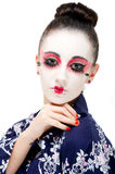 Pretty young Geisha girl. Image showing pretty young geisha girl Royalty Free Stock Image
