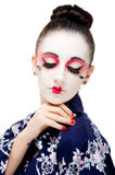 Pretty young Geisha girl. Image showing pretty young geisha girl Stock Images