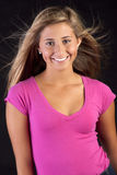 Pretty young girl. A beautiful young teen girl with pretty blond hair stock photo