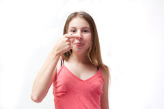 Pretty young girl Royalty Free Stock Images