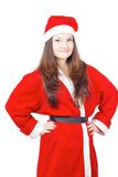 Pretty young girl dressed as Santa Royalty Free Stock Photography