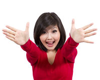 Pretty young girl exited Stock Image