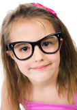 Pretty young girl in glasses Stock Image