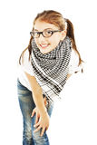 Pretty young girl in glasses Royalty Free Stock Photography