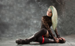 Pretty young girl in goth clothing Royalty Free Stock Photo