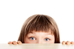 Pretty young girl looking surprised Royalty Free Stock Images