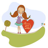 Pretty young girl in love Royalty Free Stock Photo