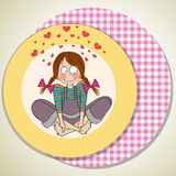 Pretty young girl in love Royalty Free Stock Images