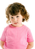 Pretty young girl in pink top Stock Photo