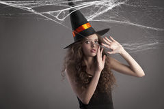 Pretty young girl ready for halloween Royalty Free Stock Photo