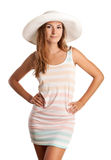 Pretty young girl in summer clothing Stock Image