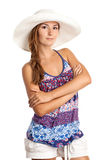 Pretty young girl in summer clothing Royalty Free Stock Photography