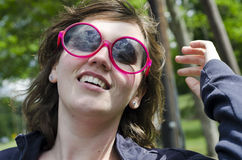 Pretty young girl in sunglasses Royalty Free Stock Images