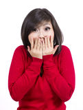 Pretty young girl surprised Stock Image